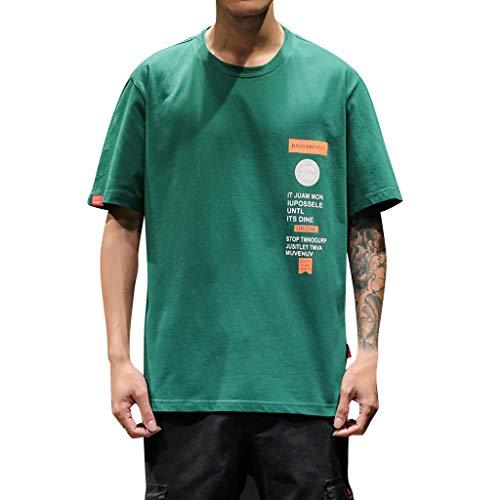 Herren Print Kurzarm T-Shirt Basic O-Neck Tee Fashion T Lässiges Hipster Rundhals T-Shirt Casual Regular Fit Oberteile -