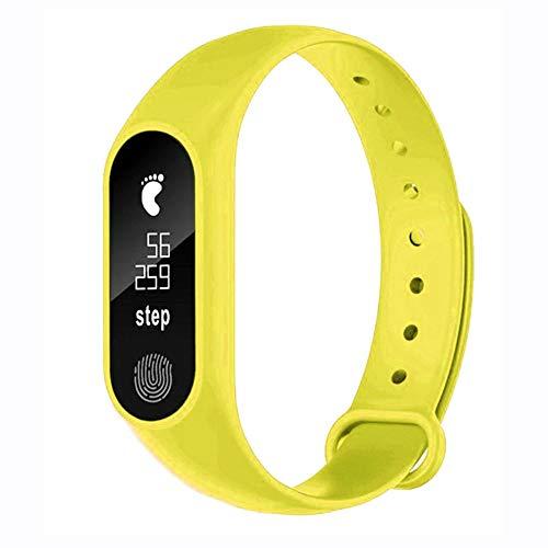 OPAKY para M2 Podómetro Deportivo Pulsera Inteligente Ritmo Cardíaco Bluetooth V4.0 Reloj Inteligente Monitor de Ritmo Cardíaco Notificación de Mensajes para Android y iOS Teléfono móvil