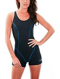 a44b4bf6846e Aqua Speed Damen Badeanzug - Einteilig - für Sport- und Freizeitschwimmen -  Atmungsaktiv - UV