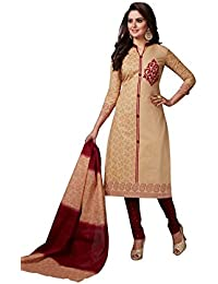 ZAFFAZ Women's Cotton Dress Material(PB104 Teal Green Free Size)