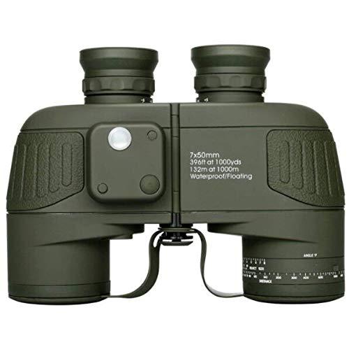 LFFCC Fernglas, 7x50 wasserdichtes, beschlagfreies Marine-Fernglas mit internem Entfernungsmesser und Kompass Für Navigation, Bootfahren, Angeln, Wassersport