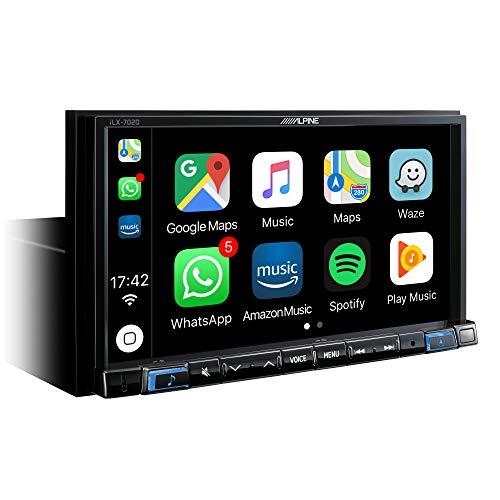 "Alpine iLX-702D Bluetooth Negro Receptor Multimedia para Coche - Radio para Coche (Dab+,FM,LW,MW, 87,5-108 MHz, 153-281 kHz, 17,8 cm (7""), 800 x 480 Pixeles, LCD)"