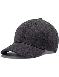 Berretto da Baseball in Lana Cappelli per Berretti Invernali per Cappelli  Solidi per Uomo Unisex Cappello e540f5232fba
