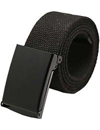 Covermason Ceinture en Toile Unisexe Simple Casual pour hommes, ceinture  élastique élastique avec boucle couverte, pour jeans, ceintures pour… 51e978a7772