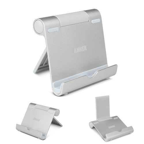 Anker Multi-Ángulo Soporte para Tablets, E-readers y Teléfonos Inteligentes: Apple iPads, iPad Mini, iPod, iPhone 5 4S 4 3GS; Samsung Galaxy Tab 2, Note 8.0 10.1, S4, S3, S2; Google Nexus 4,7,10; Asus EeePad Transformer; Sony Xperia Z