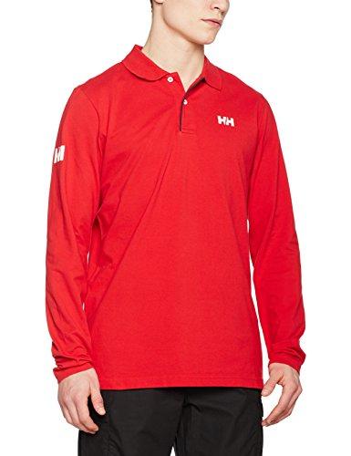 Helly Hansen CREW CLASSIC HH LS polo-Maglietta polo a maniche lunghe da uomo, rosso, taglia L