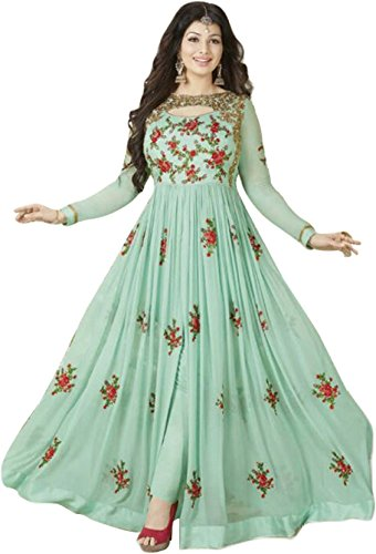 JIYAN FASHION Women's Clothing Semi-Stiched New Arrival Fancy Anarkali faux georgette and...