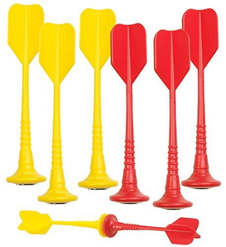 Playtastic Magnetdart-Pfeile: 6er-Set magnetische Dartpfeile, je 3X gelb und rot (Ersatzpfeil)