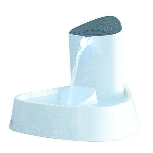 LED Automatische Elektrische PET-Wasser-Trink Filter Brunnen Schüssel Hunde Katzen Trinker, 1,5 Liter, Automatischer Kreislauf, Carbon Gefiltertes Wasser, Super Leise Und Hygienisch - Hund-brunnen-wasser-schüssel