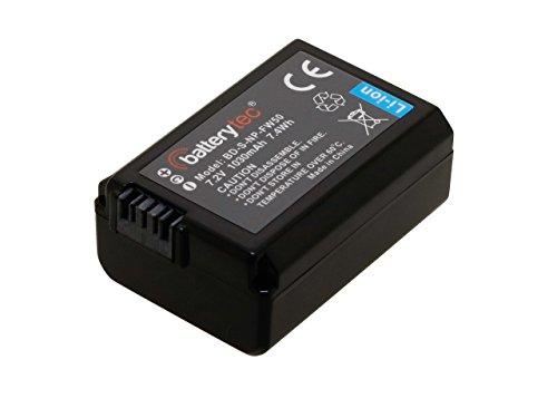 Batterytec® Akku für Sony NP-FW50 Alpha 7 a7 7R a3000 a6000, Sony NEX-3 NEX-5 NEX-6 NEX-7 NEX-C3 NEX-F3 SLT-A33 SLT-A35 SLT-A37 SLT-A55V. Cyber-Shot DSC-RX10 Digitalkamera. [7.2V 1030mAh] 1030mah-batterie