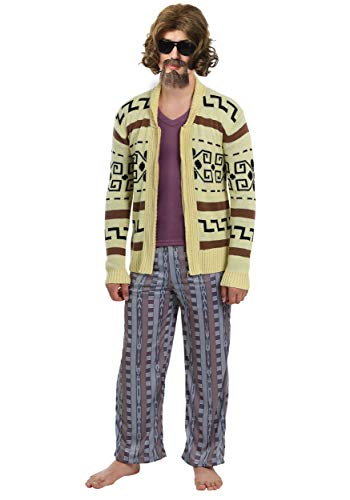 The Big Lebowski The Dude Mens Sweater Fancy Dress Costume X-Large (Big Lebowski Bowling Kostüm)