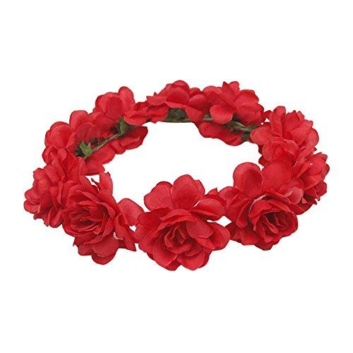 Beige Prettyia Haarkranz Blumen Damen M/ädchen Hochzeit Kommunion Blumenhaarkranz