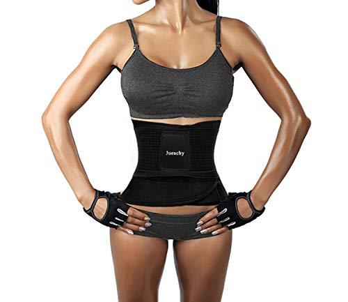 Jueachy cintura da allenamento per donne, cintura traspirante traspirante cincher trimmer body shaper cintura per bruciare i grassi cintura dimagrante per dimagrire (2xl(addome:100-110cm), nero)