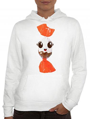 Fasching Verkleidung Frauen Hoodie Gruppen & Paar Kostüm Schoko BonBon Kostüm, Größe: XL,Weiß (Coole Ideen Gruppe Halloween Kostüme)