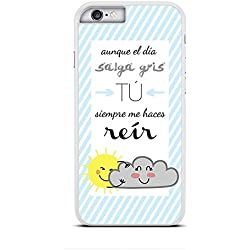 Funda de protección para iphone 6 6S decorada con cita optimista.