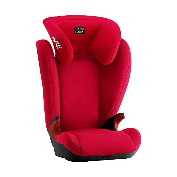 Britax Römer KID II BLACK SERIES Group 2-3 (15-36 kg) Car Seat - Fire Red Britax Römer High back booster protection Easy adjustable, ergonomic headrest Adjustable v-shaped backrest 5