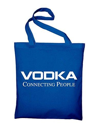 Vodka Che Collega Persone Divertenti Borsa Di Juta, Borsa, Borsa Di Stoffa, Borsa Di Cotone, Royalblue Royal Blue