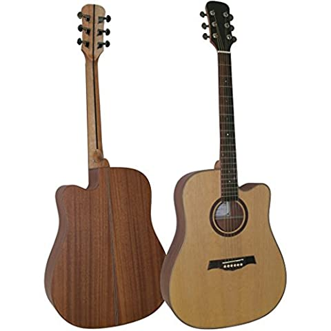 Stretton Payne D16 Limited Signature Series Solid Spruce Wood Top Cutaway Acoustic Guitar with Mahogany Back And