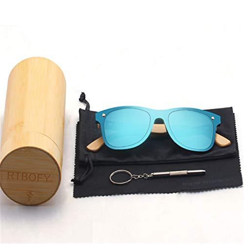 DAIYSNAFDN Holz Sonnenbrillen für Frauen & Männer Bambus Brillen handgefertigte Holz Brillen C1