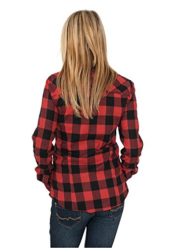 Urban Classics TB388 Damen Hemd Ladies Checked Flanell Shirt Royal/White