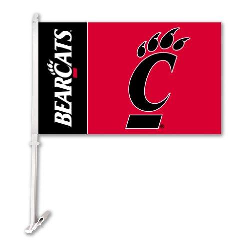 Preisvergleich Produktbild BSI NCAA Cincinnati Bearcats KFZ Flagge mit gratis Wand Brackett