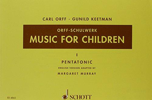 Music for Children Vol. 1 - Pentatonic - Orff-Schulwerk - voix, flûte à bec et batterie - Partition vocale/chorale et instrumentale - ED 4865