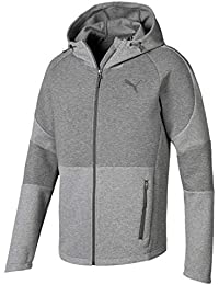 Puma Evostripe Move Hooded Jacket Sudadera, Hombre, Medium Gray Heather, XXL