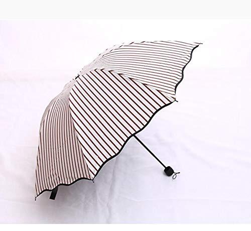 Hongge Reisen Sie Regenschirm Gestreiften Schirm Falten Prozent Regenschirm Anti-Sonnenschutz...