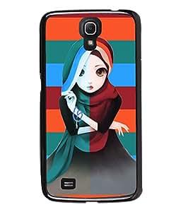 Fuson Pattern Girl Back Case Cover for SAMSUNG GALAXY MEGA 6.3 - D3679