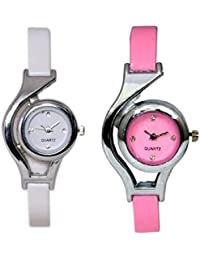 kupa enterprise Designer ,Fancy Multicolor Analog Watch for Women and Girls Pack of 2