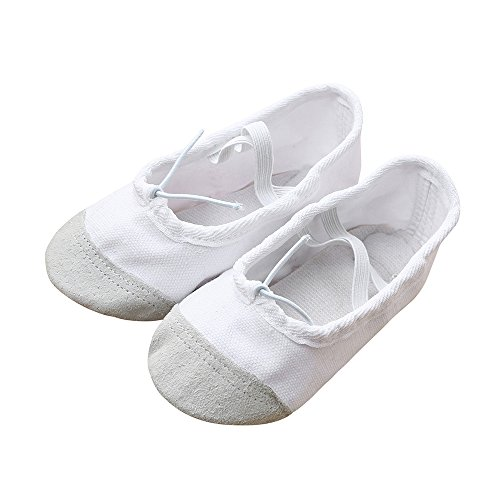 Zolimx Pattini del Bambino Bambino Bambini Ragazzi Ragazze Canvas Ballet Pointe Scarpe da Ballo Fitness Pantofole Ginnastica per Bambini Sneaker Unisex-Bambini