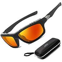 Perfectmiaoxuan Gafas de Sol polarizadas para Hombre Mujer/Golf de Pesca Fresco Ciclismo El Golf Conducción Pescar Alpinismo Deportes al Aire Libre Gafas de Sol (Oranger)