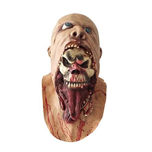 , Scary Zombie Maske Ghost Schädel Gabel Monster Maske Kostüm Halloween Party Requisiten ()