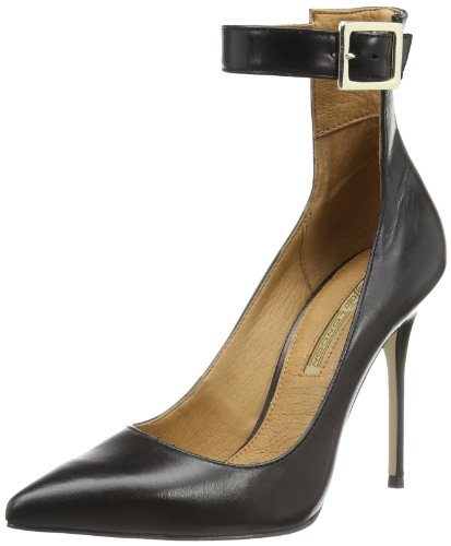 Buffalo London ZS 2016 CALF GAUCHO 148224 Damen Pumps Schwarz (Black 01)