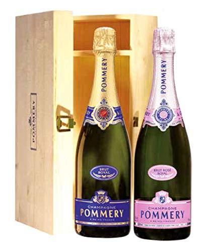 Duetto Champagne POMMERY Brut Royal e Rosè Royal - Un Regalo Esclusivo - Cod 384