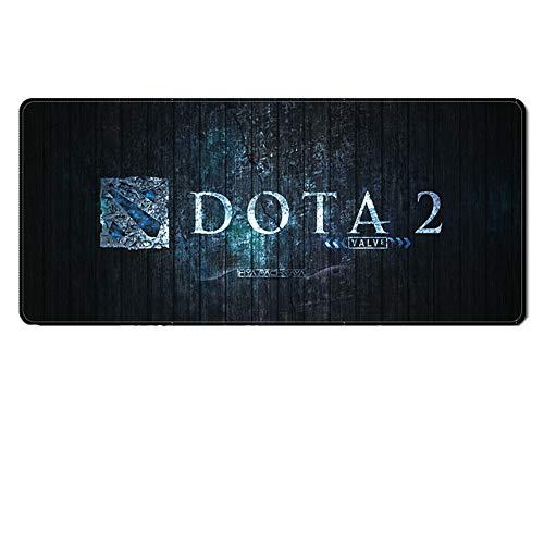 ZYAM Dota Game peripheres (900 x 400 x 3 mm) Rutschfeste und wasserfeste Gummiunterseite (Glatte Oberfläche) (genähte Kante) Dota 2 Professional Gaming Mauspad, 1, Large - 1 Dota