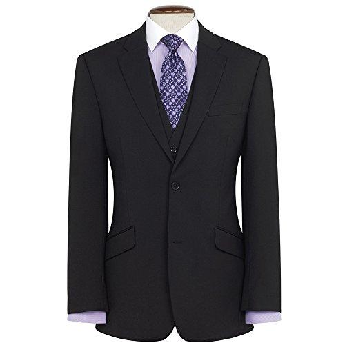 Brook Taverner - Veste de costume - Manches Longues - Homme Noir