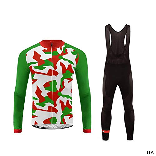 Uglyfrog 2018-2019 Cycling Kit Radsport Anzüge Herren Long Rennrad Trikots + Lange Bib Hosen Gel Pad Spring Triathlon Clothes Radanzug-Zwei Stücke