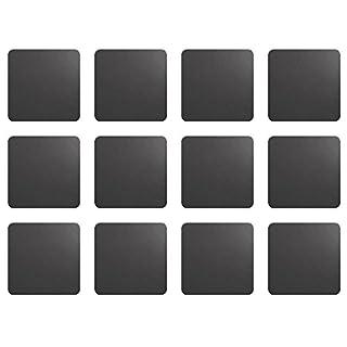 ASA Selection 7837420 Untersetzer für Gläser, 10 x 10 cm, Kunststoff in Lederoptik, basalt (3 x 4er Pack)