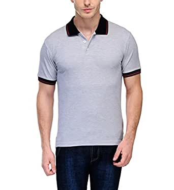 Scott Men's Premium Cotton Polo T-shirt - White melange - 1.1_sp8_S