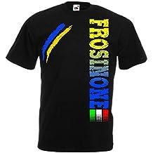 Generico T-Shirt Frosinone Tifosi Ultras Calcio Sport dalla S alla 3XL Anche Bambini e 4 Colori Disponibili
