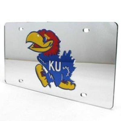 Kansas eingelegten Acryl Nummernschild-Silber -