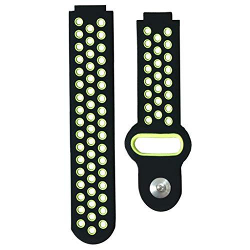 perfk Bracelet Montre Intelligent en Silicone Courroie - Vert, comme déc