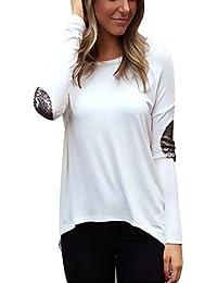 Asymmetrisch langärmelig T-Shirt Top