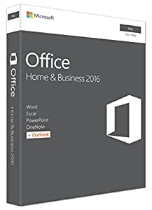 Microsoft Office Home and Business 2016 - MAC - No Media/ DVD - Product Key Inside (Word, Excel, PowerPoint, OneNote, Outlook) for 1 MAC