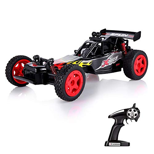 VATOS RC Car Remote Control Car Toys 1:16 Monster Truck RC Buggy Desert Buggy 2.4Ghz 2WD 50M Distance Desert Race Crawler Off Road Electric Vehicle Radio Controlled Car High Speed Hobby Gift
