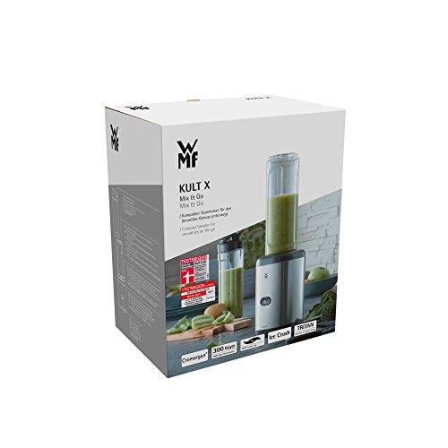 WMF KULT Mix & Go Smoothie Mini Standmixer, Smoothie Maker, 300 Watt, Tritan Flasche, Edelstahl Mixer - 7