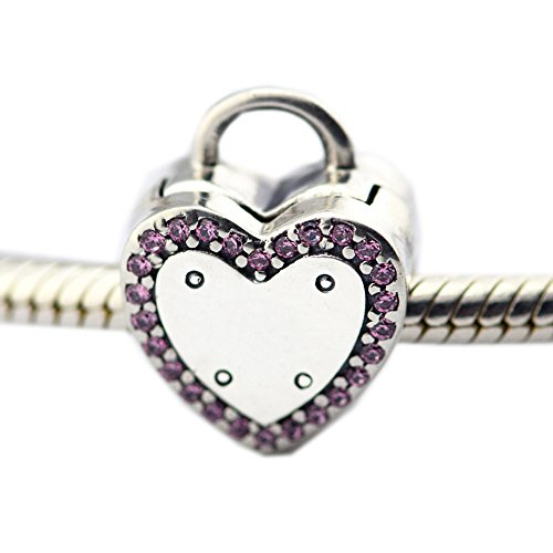 Cooltaste san valentino, lock your promise clip diy adatto per originale pandora bracciali charm fashion jewelry