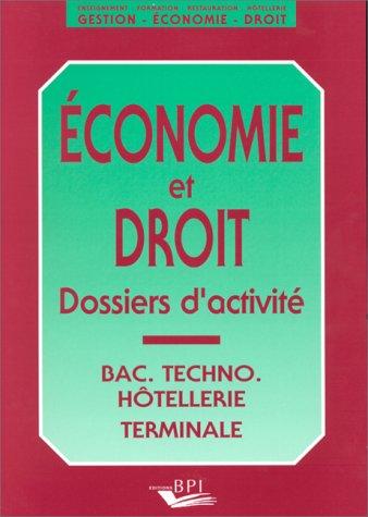 Economie et droit. Dossiers d'activité