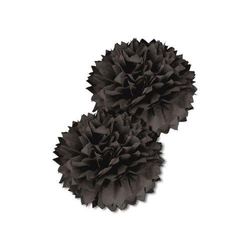 SKYLANTERN Pompons Noir 40 cm x2